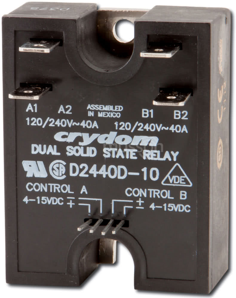 Crydom Dual 40a Solid State Relay Ssr Basics