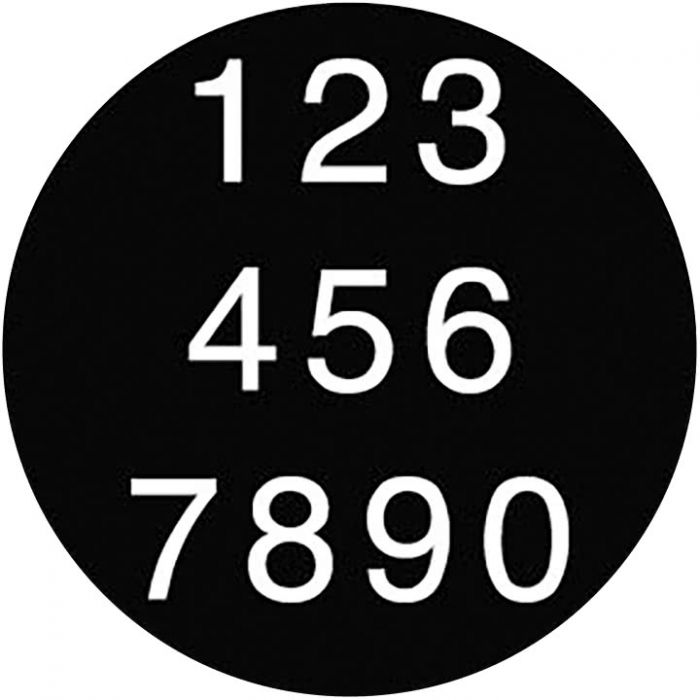Rosco 78058 - Helvetica Numbers, A-size